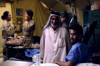 Iraqi soldier at U.S. combat hospital