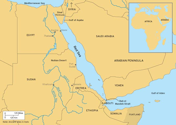 NOVA Official Website Where Is Punt - Map of egypt old kingdom