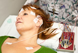 patient having EEG