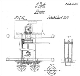 Otis Tufts 1895 elevator drawing