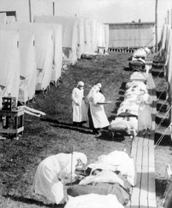 flu tents in 1918