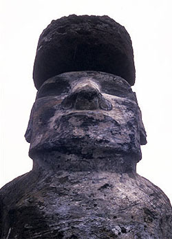 Easter Island moai from below