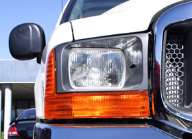 headlight of SUV