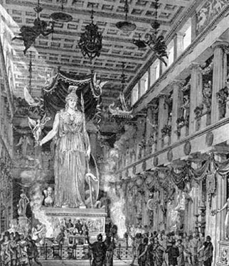 A drawing of the Parthenon in its heyday.