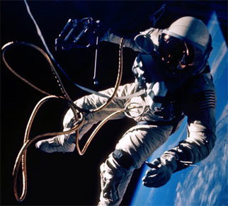 Ed White on the first U.S. spacewalk.