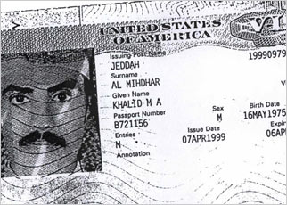 Photocopy of Mihdhar's passport