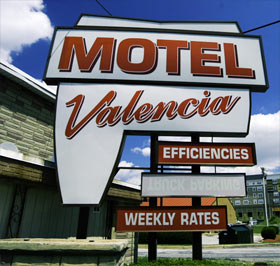 Valencia Motel sign