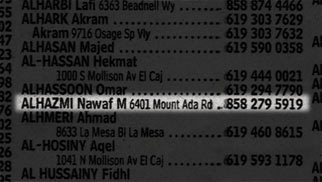 phone book listing for Nawaf al-Hazmi