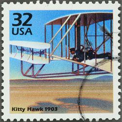 Kitty Hawk commemorative stamp.