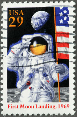 First moon landing commemorative stamp.