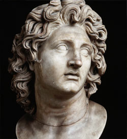 Bust of Alexander the Great.
