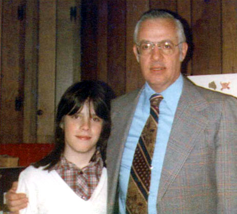 Judy at 13 years, with her father Enlarge Photo credit: Courtesy of ...