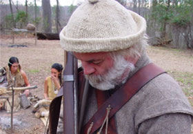 Jamestown actor with gun