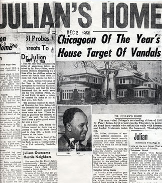 Headlines featuring the Julians, including