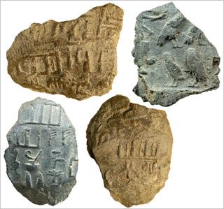 Fragments of Old Kingdom mud sealings