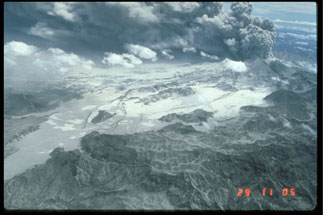 The aftermath of the Mt. Pinatubo eruption