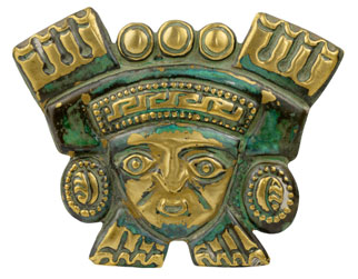 gold Peruvian mask