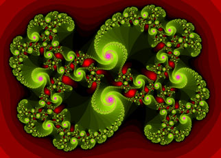 red and green swirl fractal