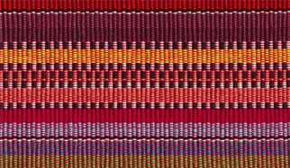 Brightly colored woven cloth