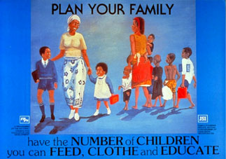 A family planning poster from Kenya.