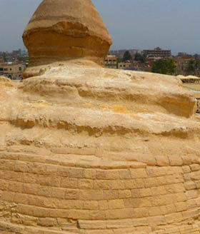 The tail end of the Sphinx.