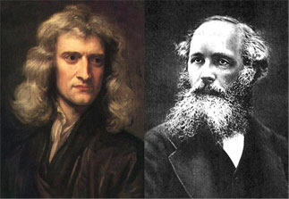 Isaac Newton and James Clerk Maxwell