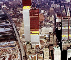 World Trade Center under construction in 1971