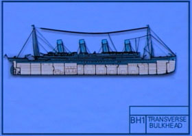 drawing of Britannic hull