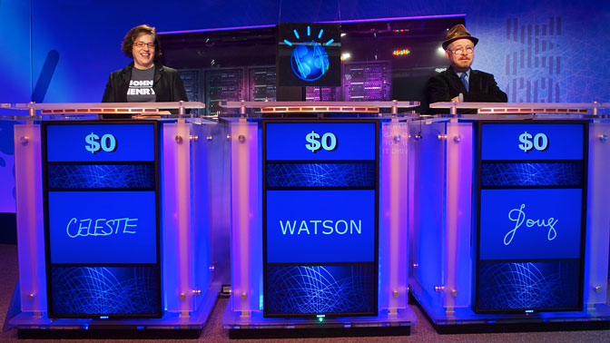 a mock contest between watson and human contestants on jeopardy when the real contest occurs how will the supercomputer fare