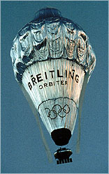 Breitling Orbiter balloon in flight