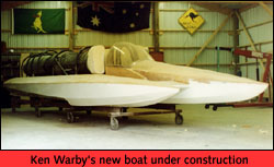 Warby's new boat under construction