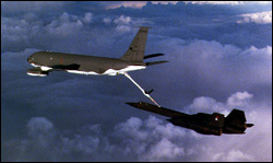 SR-71 being refueled in flight