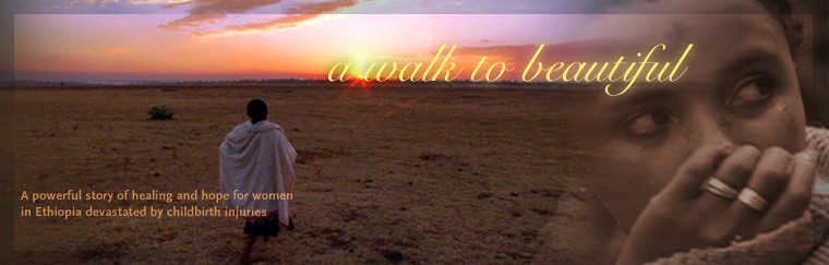 A Walk to Beautiful: A powerful story of healing and hope for women in Ethiopia devastated by childbirth injuries. Airs on PBS May 13, 2008