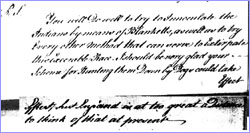 Amherst's letter