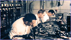 Men in lab