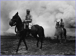 Cavalry in mist of gas