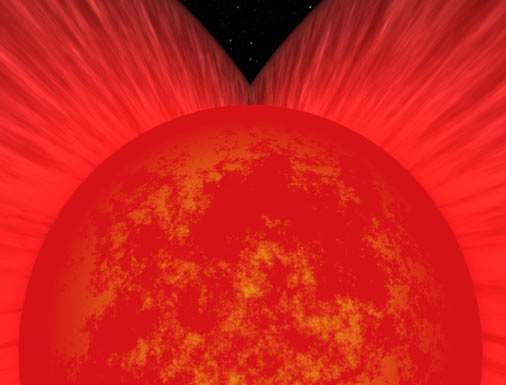 Cutaway of red supergiant