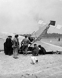 Crash of Blériot VIII