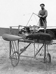 Blériot in airplane