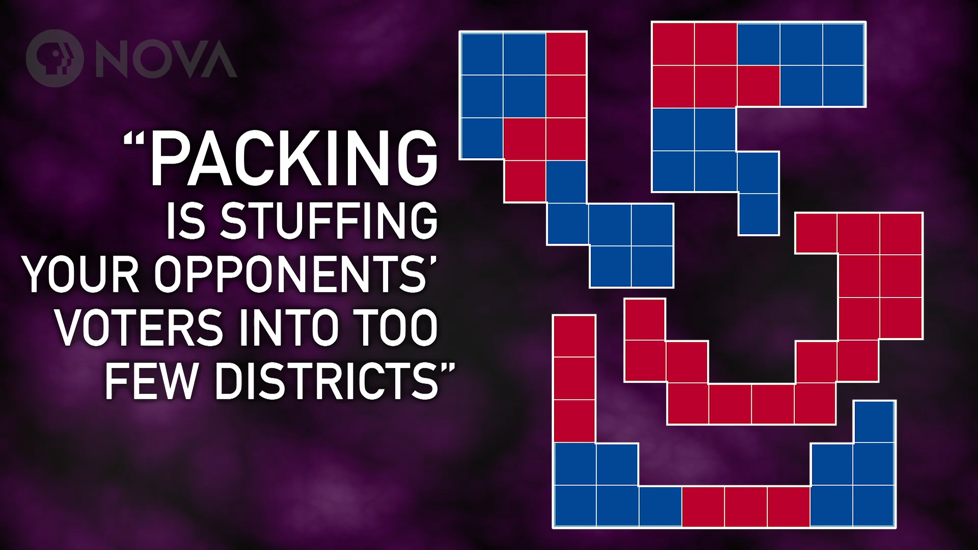 Packing is stuffing your opponents' voter into too few districts.