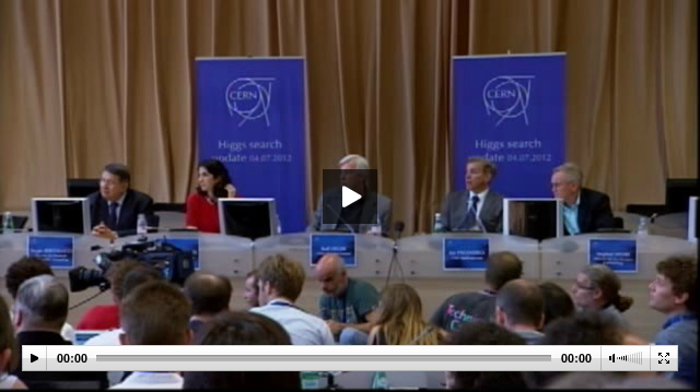 CERN Press Conference 4 July 2012