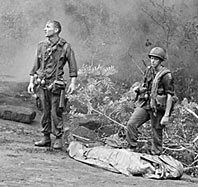 Soldiers and body bag