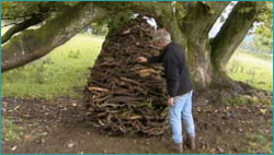 Goldsworthy with his art