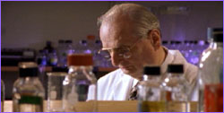 Dr. Judah Folkman in lab