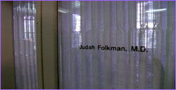 Door to Folkman's office