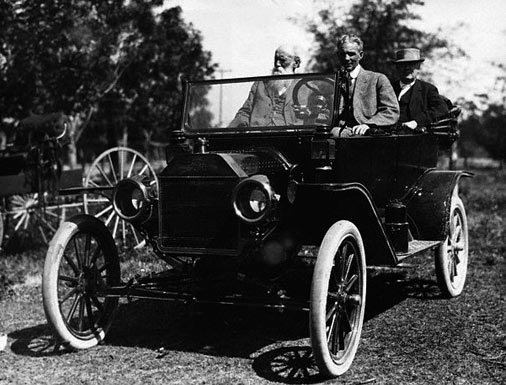 Henry Ford in Model T