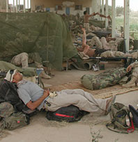 Dimitri's bed in Iraq