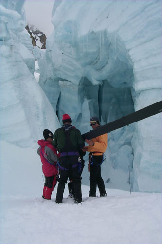 crevasse rescue training