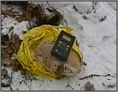 The cesium-filled package uncovered in a Moscow park.