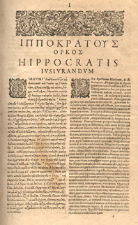 The Hippocratic Oath: Classical Version